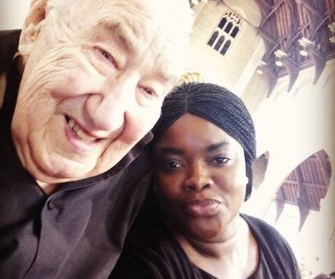 PHOTOS: Young Ghanaian lady married to a '90-year-old' white man slams her critics