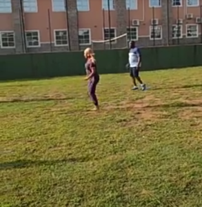 PHOTOS/VIDEOS: Tonto Dikeh plays football with other father's as she represents her son on Father's day at school
