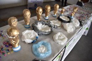 PHOTOS/VIDEO: Argentine Authorities seize fake World cup trophies containing weed and cocaine