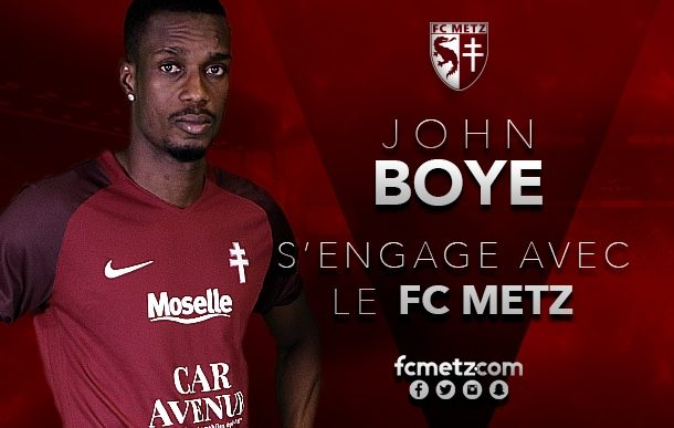 OFFICIAL: John Boye joins French Ligue 2 side FC Metz