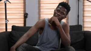 VIDEO: Kwesi Arthur in 'trouble' for carelessly riding on a stunt bike without a helmet