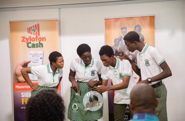 Akwamuman SHS drama club gets $10,000 Zylofon Cash sponsorship
