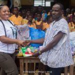 PHOTOS: Moesha Bodoung makes massive donation to Tebu M/A Basic School