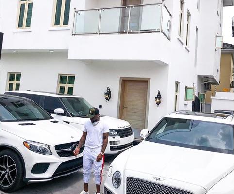 PHOTOS: Davido shows off his expensive cars as he adds a brand new 2018 Bentley Bentyaga to his garage