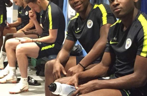 Ghana winger Thomas Agyepong reports for preseason training at Manchester City