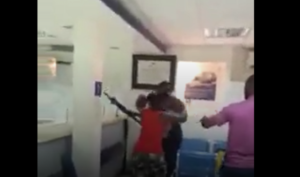 VIDEO: Police officer captured assaulting nursing mother at the bank