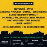 Beyonce, JAY-Z, Wizkid, Tiwa Savage, Others to headline 2018 Global Citizen Festival in South Africa