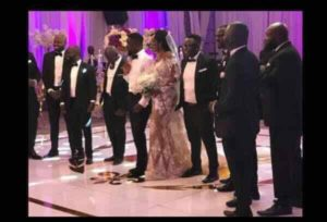 PHOTOS: Celebrities show up at Sarkodie and Tracy's lavish white wedding ceremony