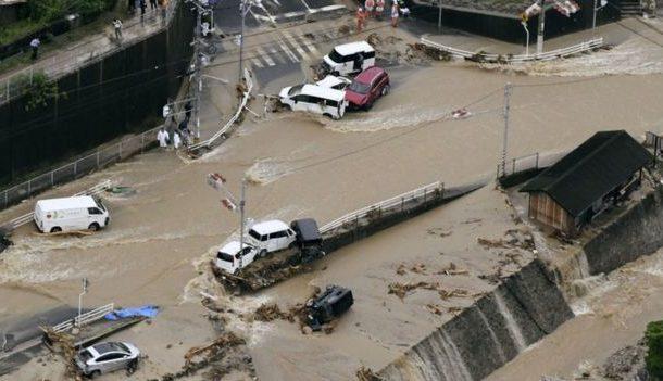 Japan floods: Dozens killed in deluges and landslides