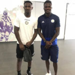 Ghanaian duo Nicholas Opoku and Amartey share a moment after Udinese-Leicester friendly