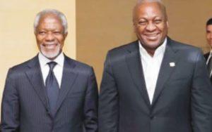 "Mahama eulogizes Kofi Annan; describe him as ""a proud son of Ghana and Africa"""