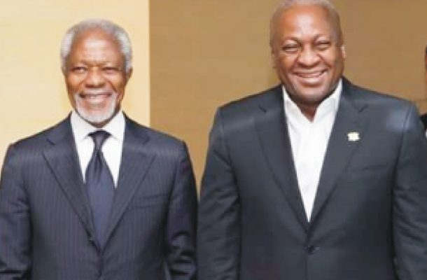 "Mahama eulogizes Kofi Annan; describe him as ""a proud son of Ghana and Africa"""