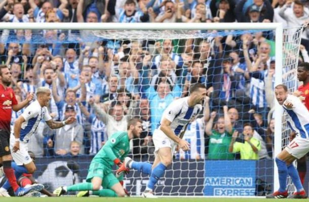 Brighton stun lacklustre Manchester United