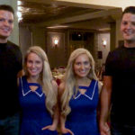 Twin sisters marry twin brothers in a ceremony officiated by twin ministers