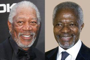Interesting: Kofi Annan's reaction to being mistaken for Morgan Freeman