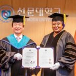 Nigeria's first lady, Aisha Buhari receives honorary doctorate degree from South Korean University