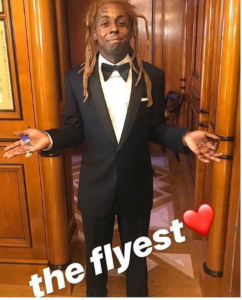 Lil Wayne wears a Tuxedo for the 'first time' in his life