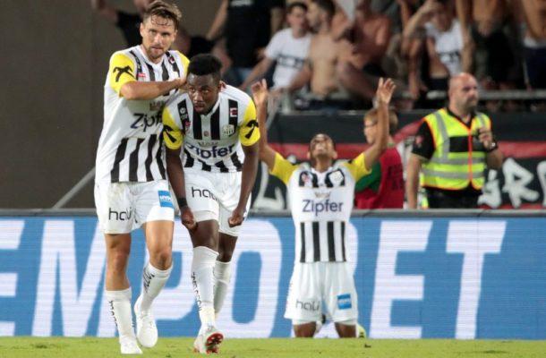 LASK forward Samuel Tetteh crestfallen after Europa Cup elimination