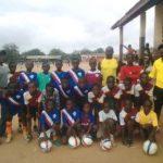Ghanaian defender Jonathan Mensah donates football kits to juvenile club in Accra