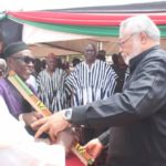 PHOTOS: Rawlings, Ibrahim Mahama visit accident victims in Ashanti Region