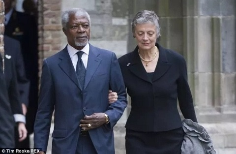Kofi Annan's wife speaks on how her husband died