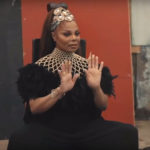 Janet Jackson styled in designs by Ghanaian fashion brand Aphia Sakyi