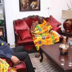 Asantehene Otumfuo Osei Tutu II pays courtesy on Rawlings