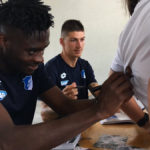 Ghana's Kassim Nuhu signs jerseys, takes selfies with fans after Hoffenheim stalemate against Eibar