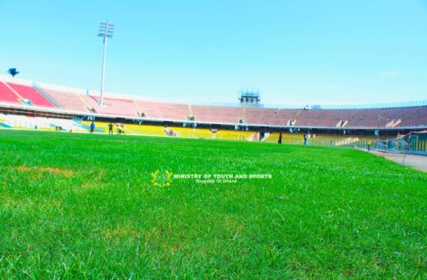 Accra Sports Stadium gets face-lift ahead of 2018 Women's AFCON