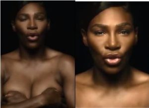VIDEO: Serena Williams goes completely topless in heroic breast cancer video