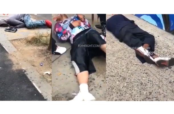 Disturbing Video: 5 men overdose in New York after smoking K2 drug