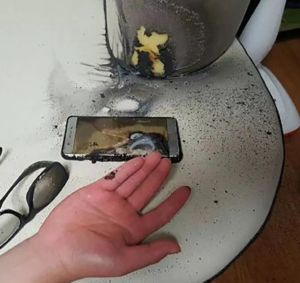 "PHOTOS: Woman's horror after Galaxy Note 9 ""burst into flames"" inside her purse"