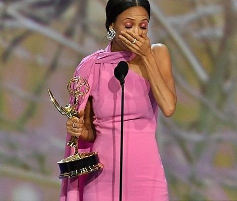 "I don't believe in God but I got to thank her tonight"" – Actress Thandie Newton after receiving 1st Emmy"