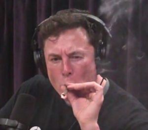 PHOTOS: Tesla CEO, Elon Musk shocks listeners as he smokes 'weed' during Interview