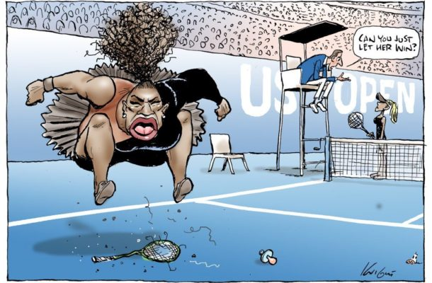 Serena cartoon fuels debate about 'racist' Australia