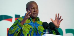 VIDEO: Ex President Mahama turns pastor; preaches about 'favour' in church