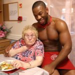 PHOTOS: Elderly women hire naked butlers to serve them at Essex care home