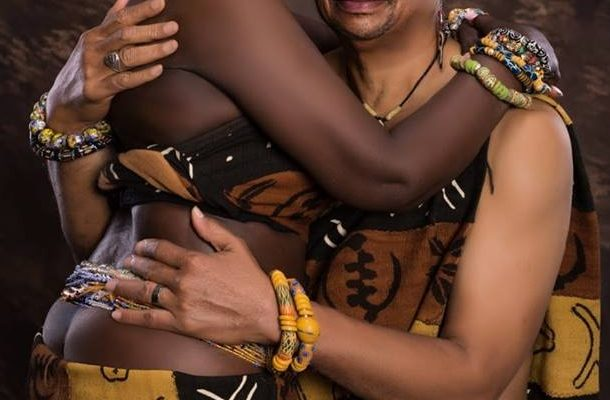Highlife legend Ben Brako shares risque picture; goes semi-nude with wife in new photos