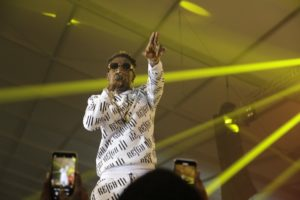 PHOTOS: Shatta Wale bitterly weeps at Reign Album launch; accuse industry of fighting against him