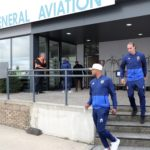 Andre Ayew and his Fenerbaçe teammates touchdown in Brussels for Europa League clash
