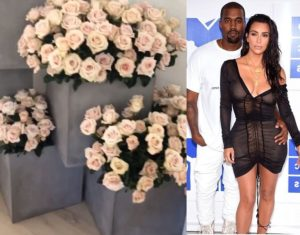 PHOTOS/VIDEO: Kim Kardashian wakes up to a house full of flowers from Kanye West