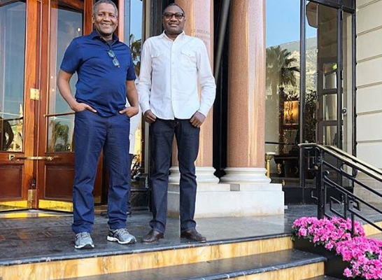 PHOTOS: Nigerian billionaires, Aliko Dangote and Femi Otedola in France for fun trip