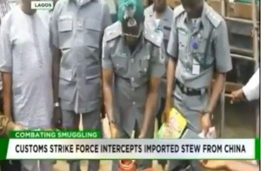 SHOCKER: Nigerian customs strike force intercepts containers of imported 'Stew' from China
