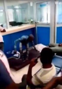 VIDEO: Bank Customer sends mattress & pillow to banking hall to demand his savings