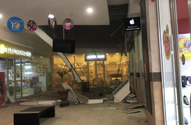VIDEO: One injured as Accra Mall roof caves in