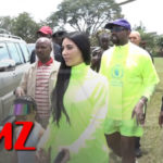 VIDEO: Kanye West and Kim Kardashian hand out Free Yeezys to Kids in Uganda