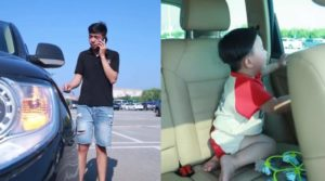 SHOCKING VIDEO: Man distracted by phone call nearly kills son after he abandoned him in overheated car