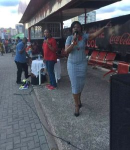 PHOTOS: EC Commissioner  spotted preaching at Accra Mall