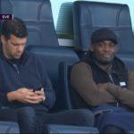 Chelsea Legends Michael Essien, Ballack at Stamford bridge to watch Everton game