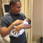 Nigerian rapper, Naeto C and his wife Nicole welcome their third child